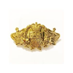Royal Hair Clip in Gold with Royal Crest and Crown